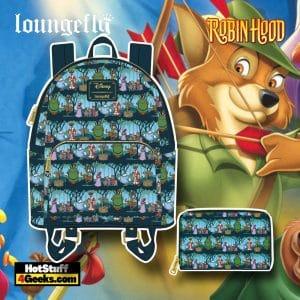 Loungefly Disney Robin Hood Sherwood Mini Backpack, and Wallet - November 2021 Pre-Orders