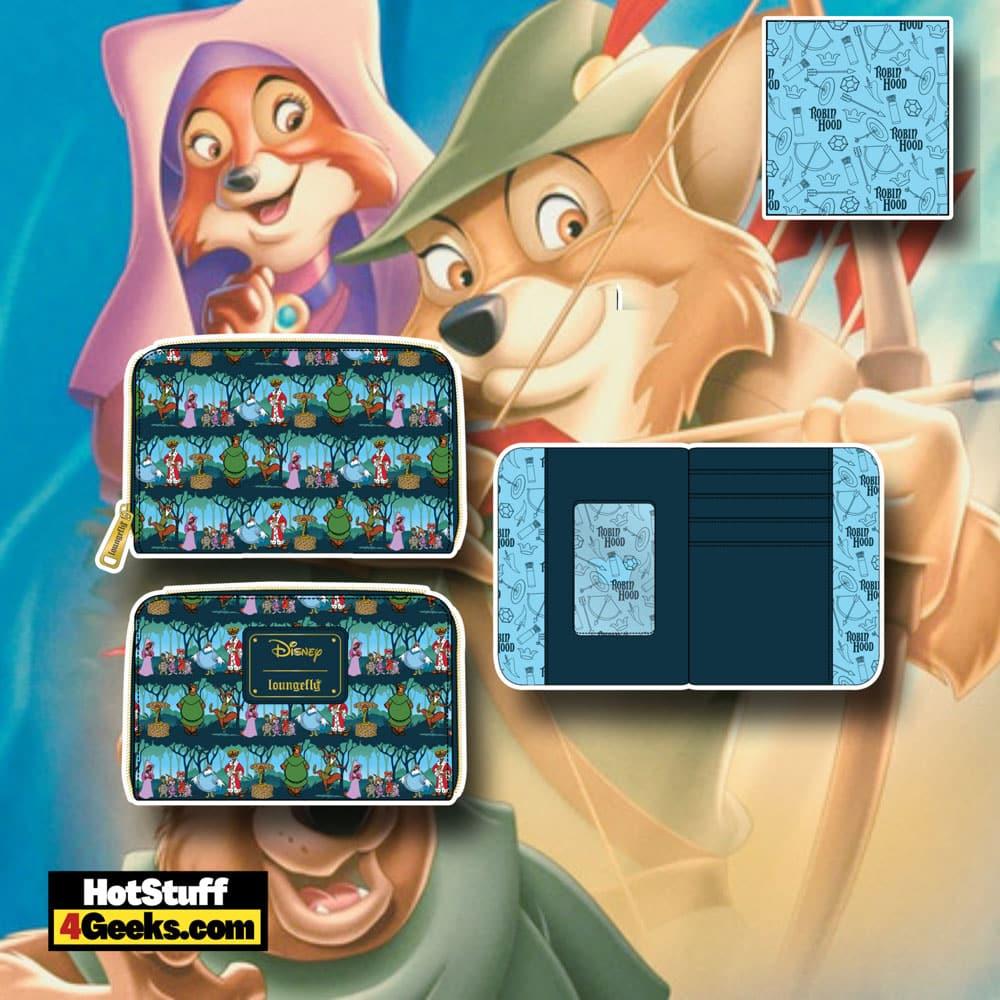 Loungefly Disney Robin Hood Sherwood Zip Around Wallet