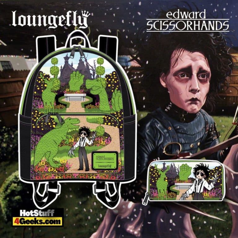 Loungefly Edward Scissorhands Topiaries Mini Backpack, and Wallet - November 2021 Pre-Orders