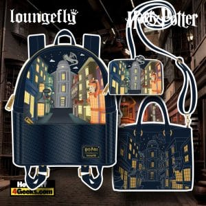 Loungefly Harry Potter Diagon Alley Mini Backpack, Crossbody Bag, and Wallet - November 2021 Pre-Orders