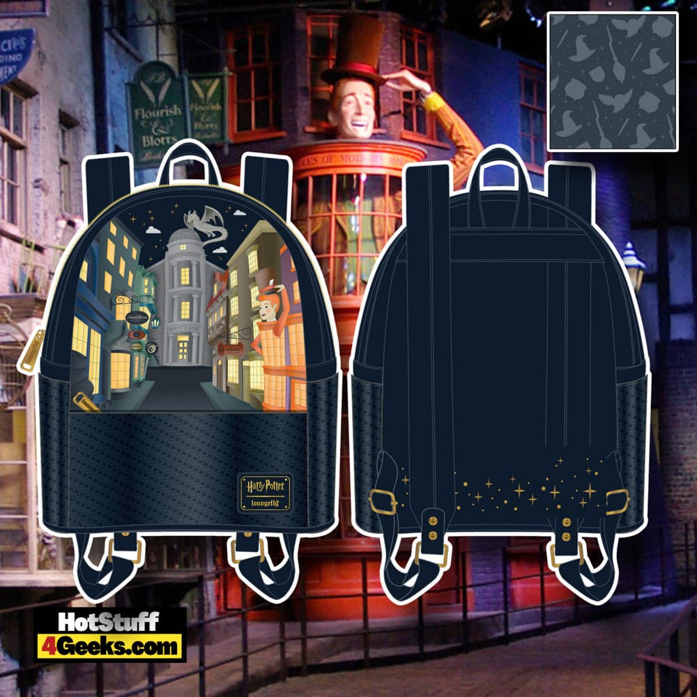 Loungefly Harry Potter Diagon Alley Sequin Mini Backpack