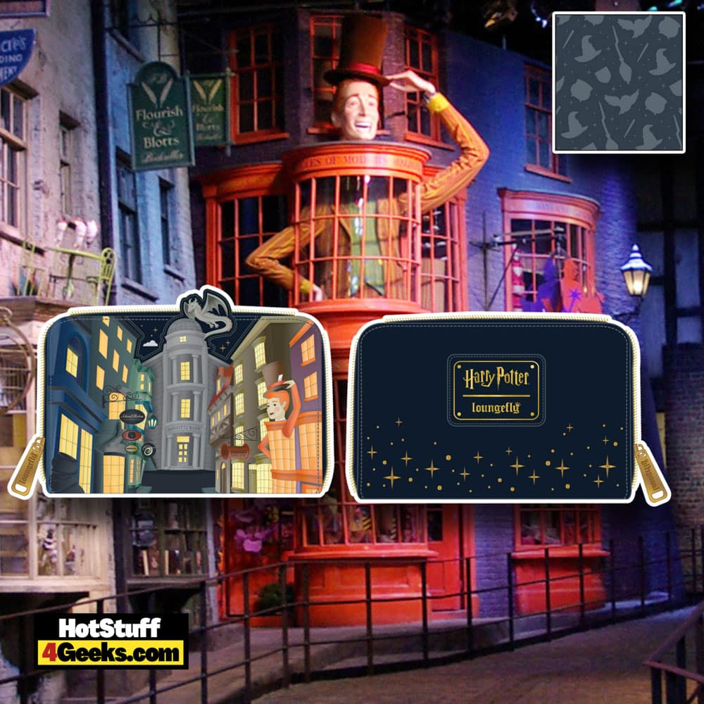 Loungefly Harry Potter Diagon Alley Zip Around Wallet