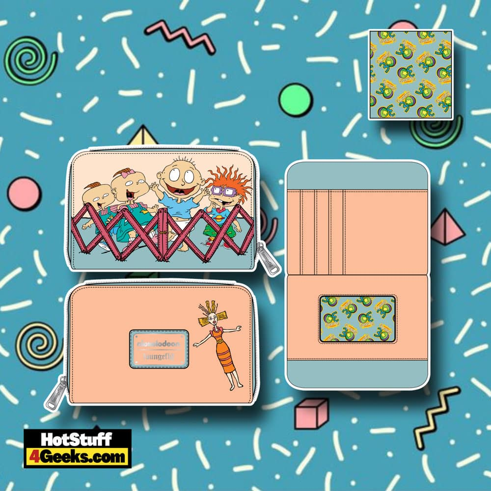 Loungefly Nickelodeon Rugrats 30th Anniversary Zip Around Wallet