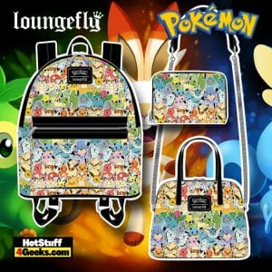 Loungefly Pokémon Ombre Mini Backpack, Crossbody Bag, and Wallet - November 2021 Pre-Orders