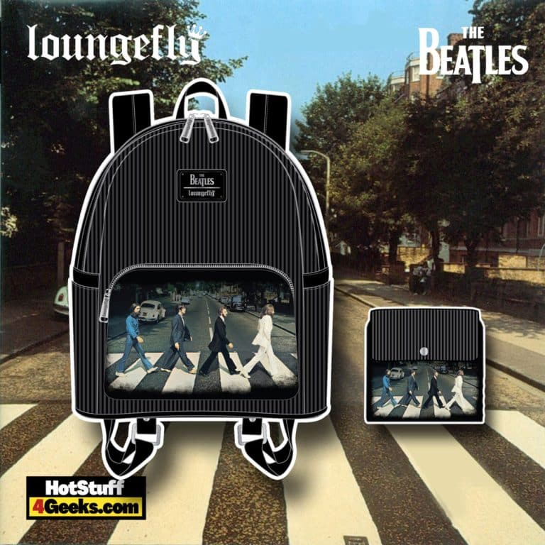 Loungefly The Beatles Abbey Road Mini Backpack and Wallet - November 2021 Pre-Orders