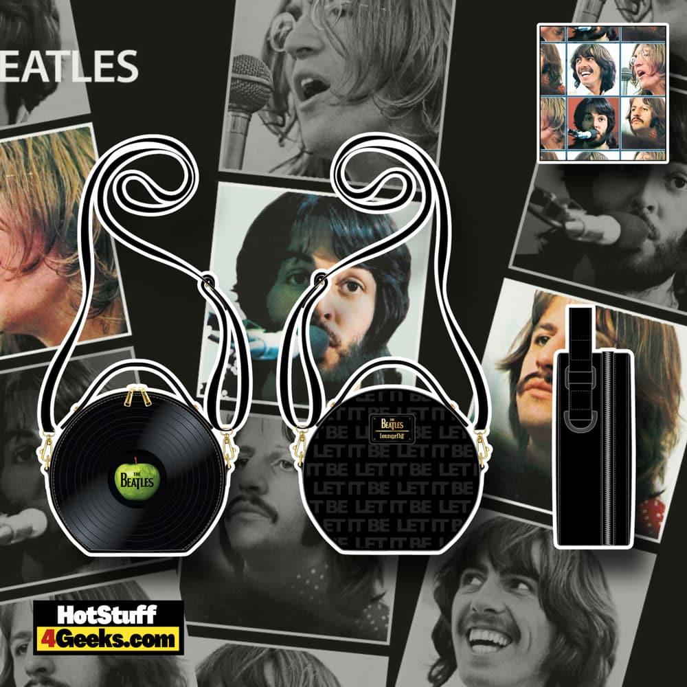 Loungefly The Beatles Let It Be Vinyl Record Crossbody Bag