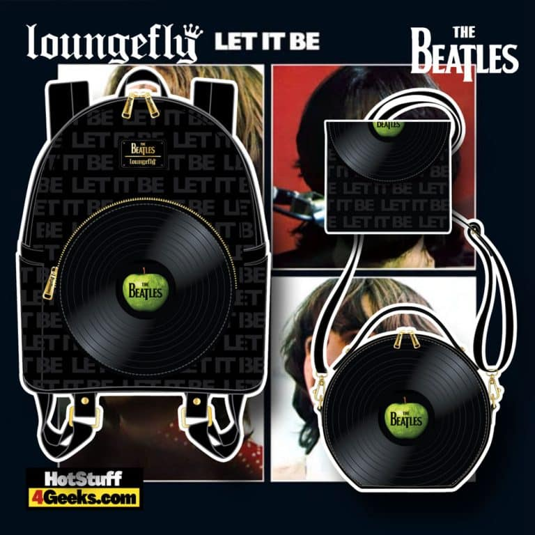 Loungefly The Beatles Let It Be Vinyl Record Mini Backpack, Crossbody Bag, and Wallet - November 2021 Pre-Orders