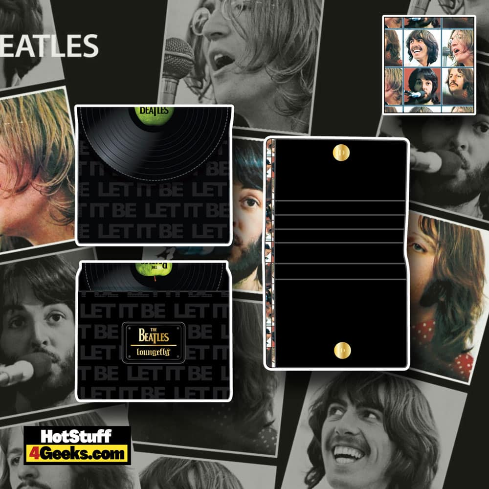 Loungefly The Beatles Let It Be Vinyl Record Zip Around Wallet