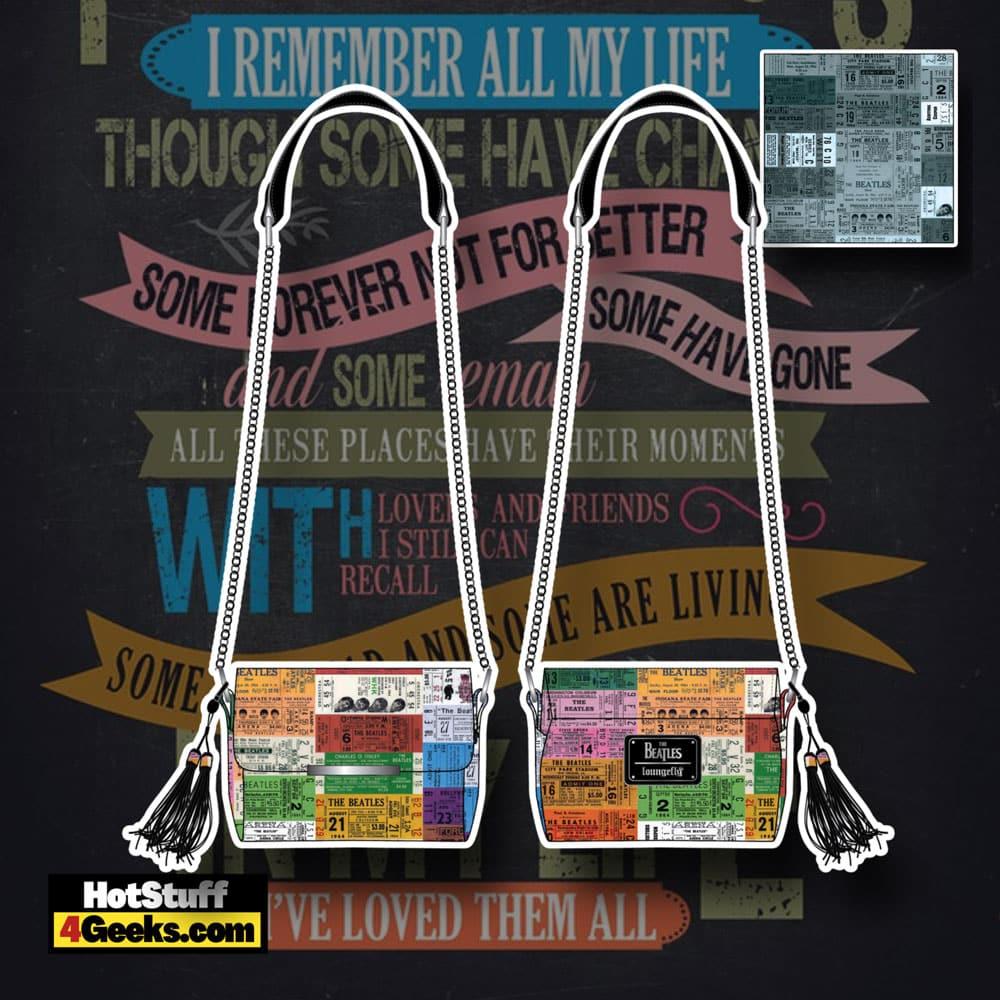 Loungefly The Beatles Ticket Stubs Crossbody Bag