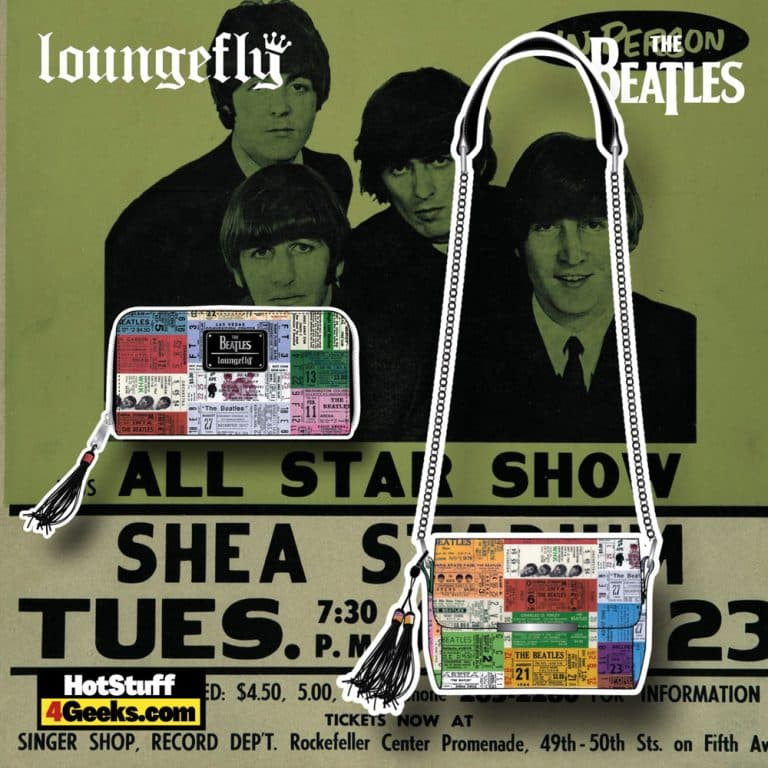 Loungefly The Beatles Ticket Stubs Crossbody Bag, and Wallet - November 2021 Pre-Orders