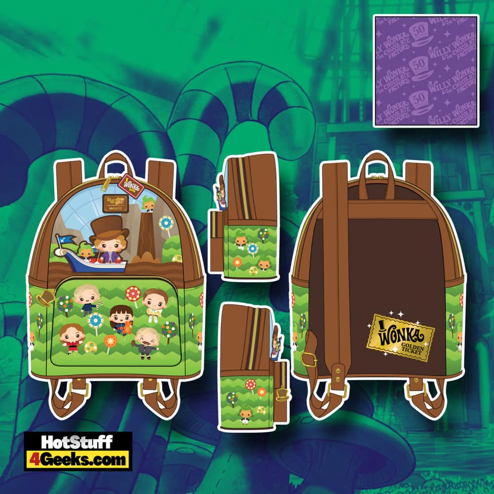 Loungefly Willy Wonka and The Chocolate Factory 50th Anniversary Mini Backpack