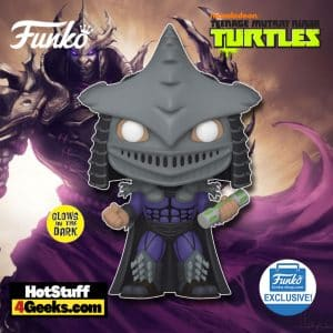 Funko Pop! Movies: Teenage Mutant Ninja Turtles (TMNT) - Shredder With Ooze Canister Glow-In-The-Dark (GITD) Funko Pop! Vinyl Figure - Funko Shop Exclusive
