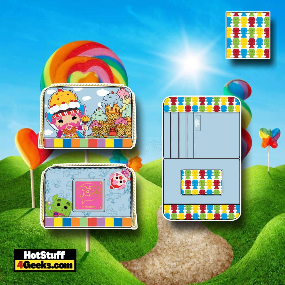 Pop! by Loungefly Hasbro Candy Land Take Me to The Candy Zip Around Wallet
